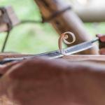 Holznagelherstellung mit dem Reifmesser